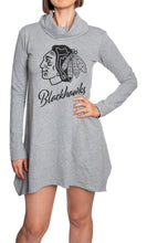 Load image into Gallery viewer, NHL Ladies Official Cowlneck Tunic- Chicago Blackhawks Front