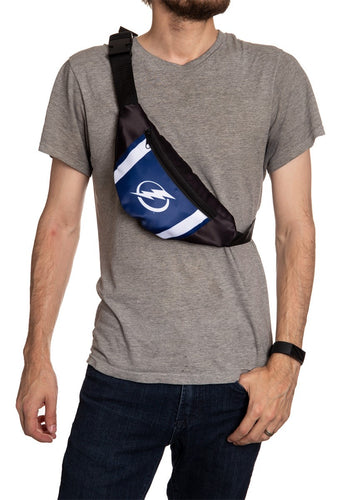 NHL Unisex Adjustable Fanny Pack- Tampa Bay Lightning Crossbody