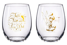 Load image into Gallery viewer, Disney Collectible Wine Glass Set- Tinkerbell