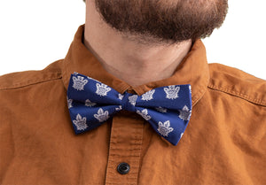 NHL Mens Woven Bowtie-Toronto Maple Leafs On Shirt