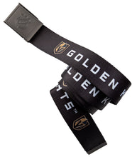 Load image into Gallery viewer, NHL Mens Woven Adjustable Team Logo Belt- Vegas Golden Knights Belt Swatch