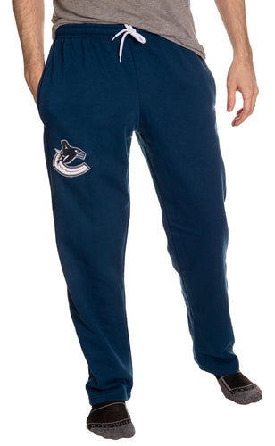 Vancouver Canucks Embroidered Logo Sweatpants Front View