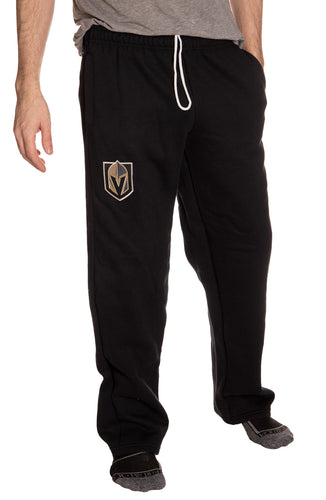 Vegas Golden Knights Embroidered Logo Sweatpants Front View