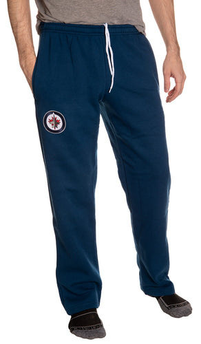 Winnipeg Jets Embroidered Logo Sweatpants Front View