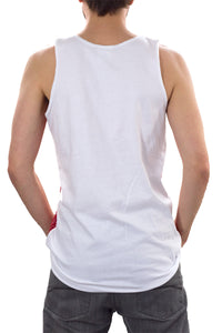 Mens USA Flag Tank Top BACK