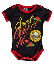 Load image into Gallery viewer, Guns N Roses Sweet Child O' Mine Baby Diaper Suit Romper- Black