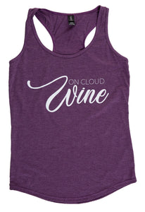 "Womens Tank Top- ""On Cloud Wine"""