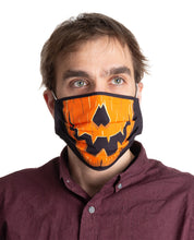 Load image into Gallery viewer, Pumpkin Halloween Face Mask - 3 Pack