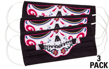 Load image into Gallery viewer, Sugar Skull Face Mask, 3 Pack.