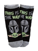 "Load image into Gallery viewer, Baby Yoda ""This is the Way"" Unisex Ankle Socks - 5 Pack"