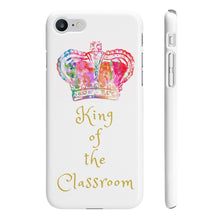 Load image into Gallery viewer, iPhone 'King of the Classroom' Case White