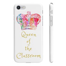 Load image into Gallery viewer, iPhone 'Queen of the Classroom' Case White