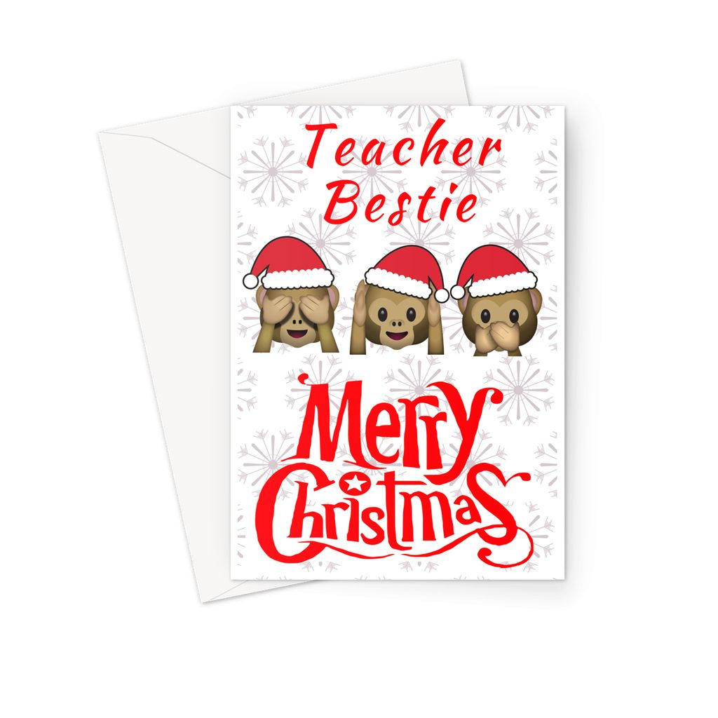 Teacher Bestie - Christmas Card