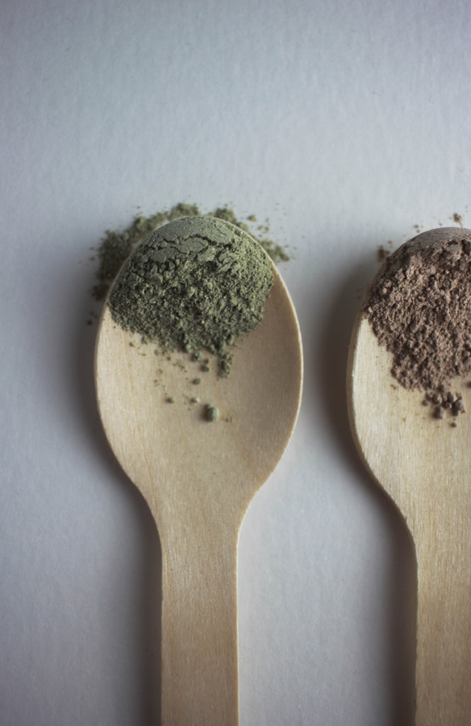 Power Greens Mask, Detox Mask, Spinach Mask, Green Clay Mask