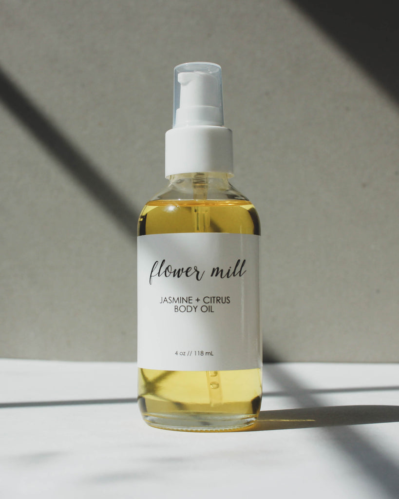 Jasmine and Citrus Body Oil, Jasmine Body Oil, Natural Body Oil