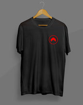 Red Pocket Black T-Shirt