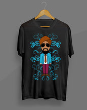 Singh Suit Black T-Shirt
