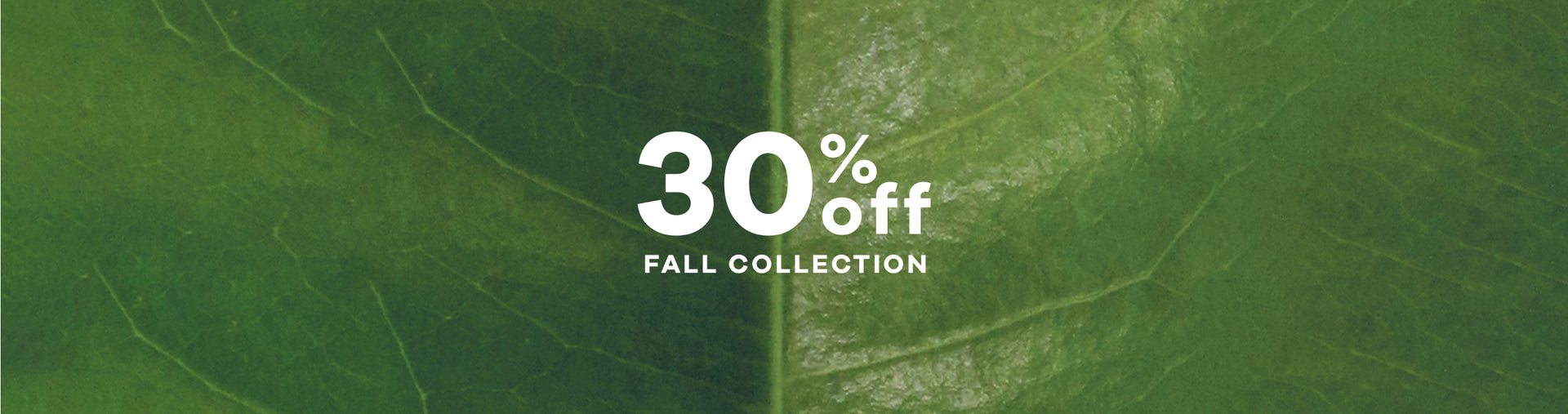 Green Friday - 30% OFF Fall Styles Image