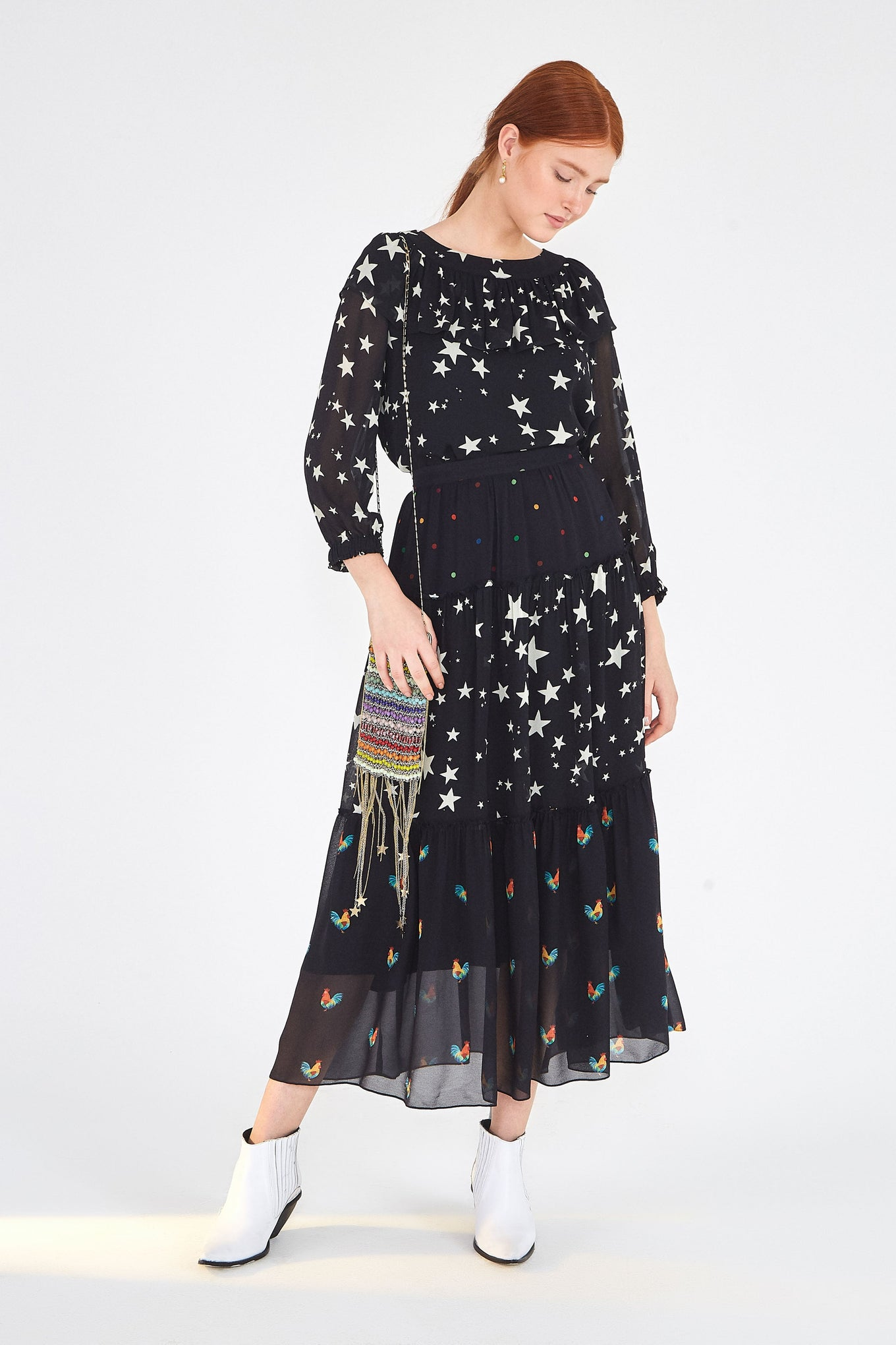MIXED STARDUST MAXI SKIRT