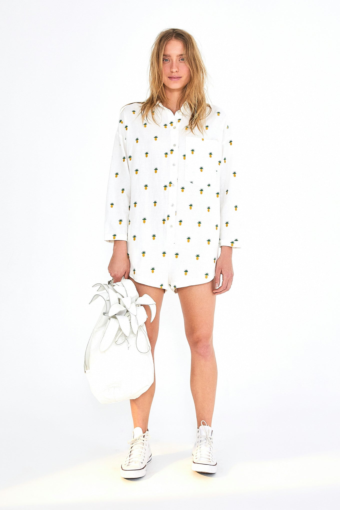 EMBROIDERED PINEAPPLE JUMPER