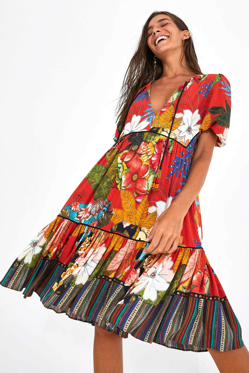 DRESS BORDADO FLORES