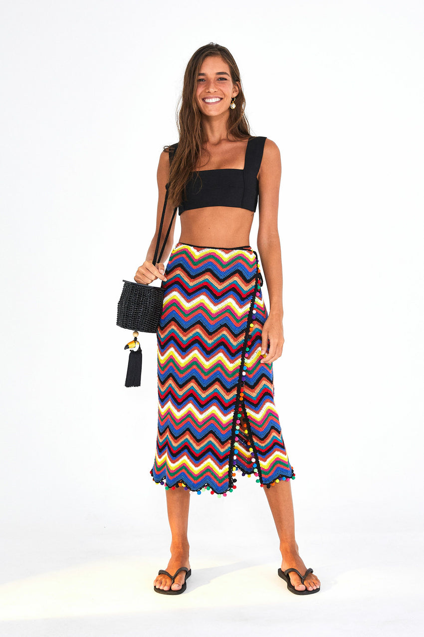 ZIGZAG CROCHET WRAP SKIRT