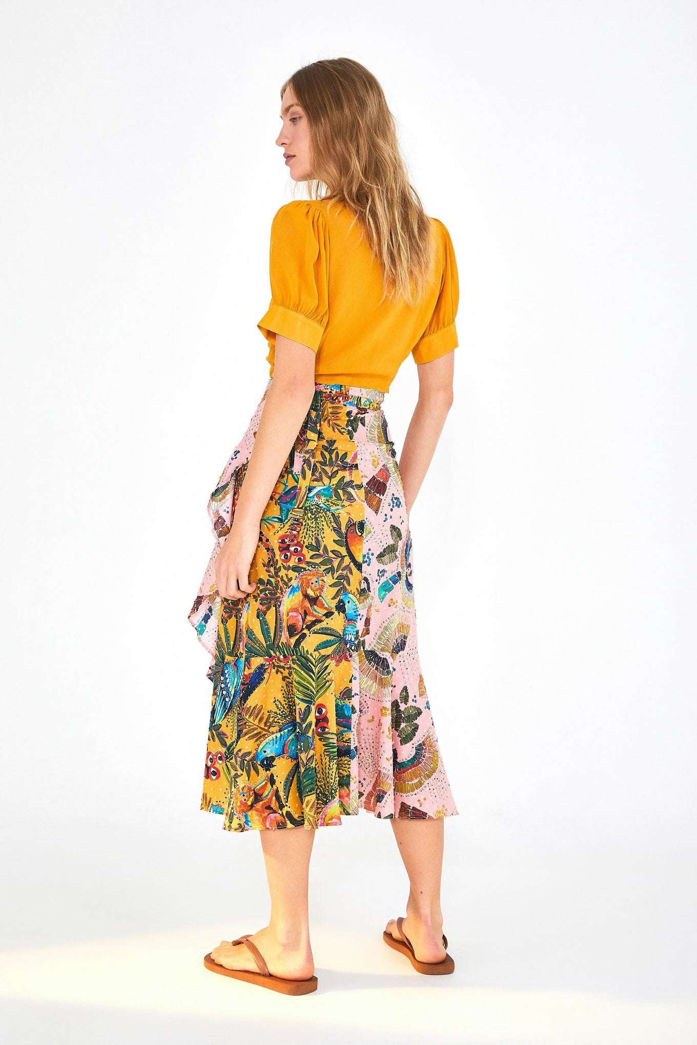 BIRDS IN THE WILD WRAP SKIRT