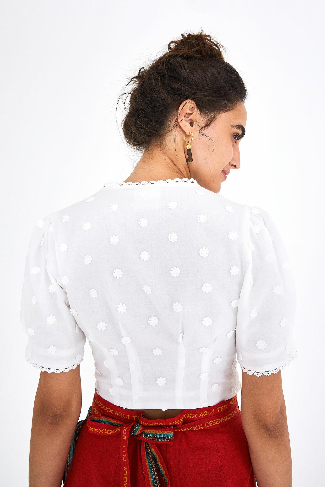 HARMONIA PUFFED SLEEVES CROPPED TOP