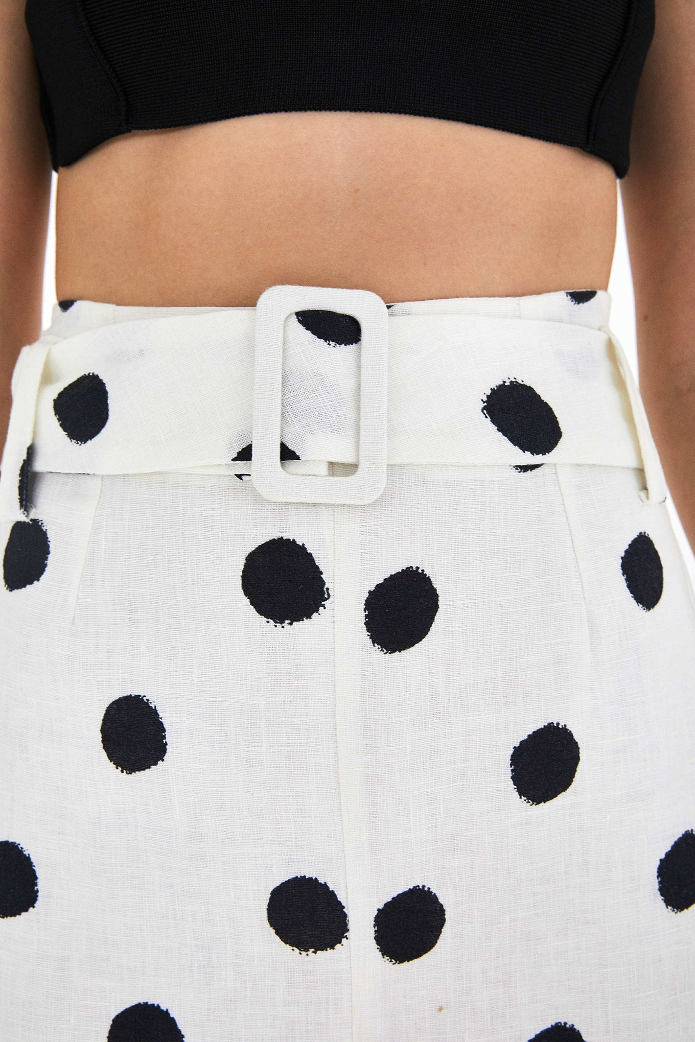 ONCA POLKA DOT PENCIL SKIRT
