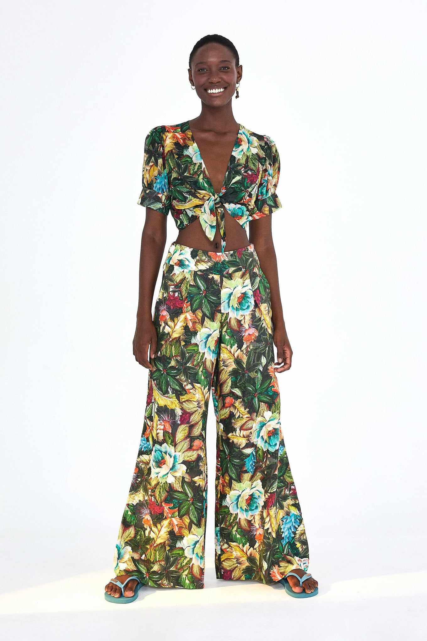 GARDEN DREAMS WIDE LEG TROUSERS