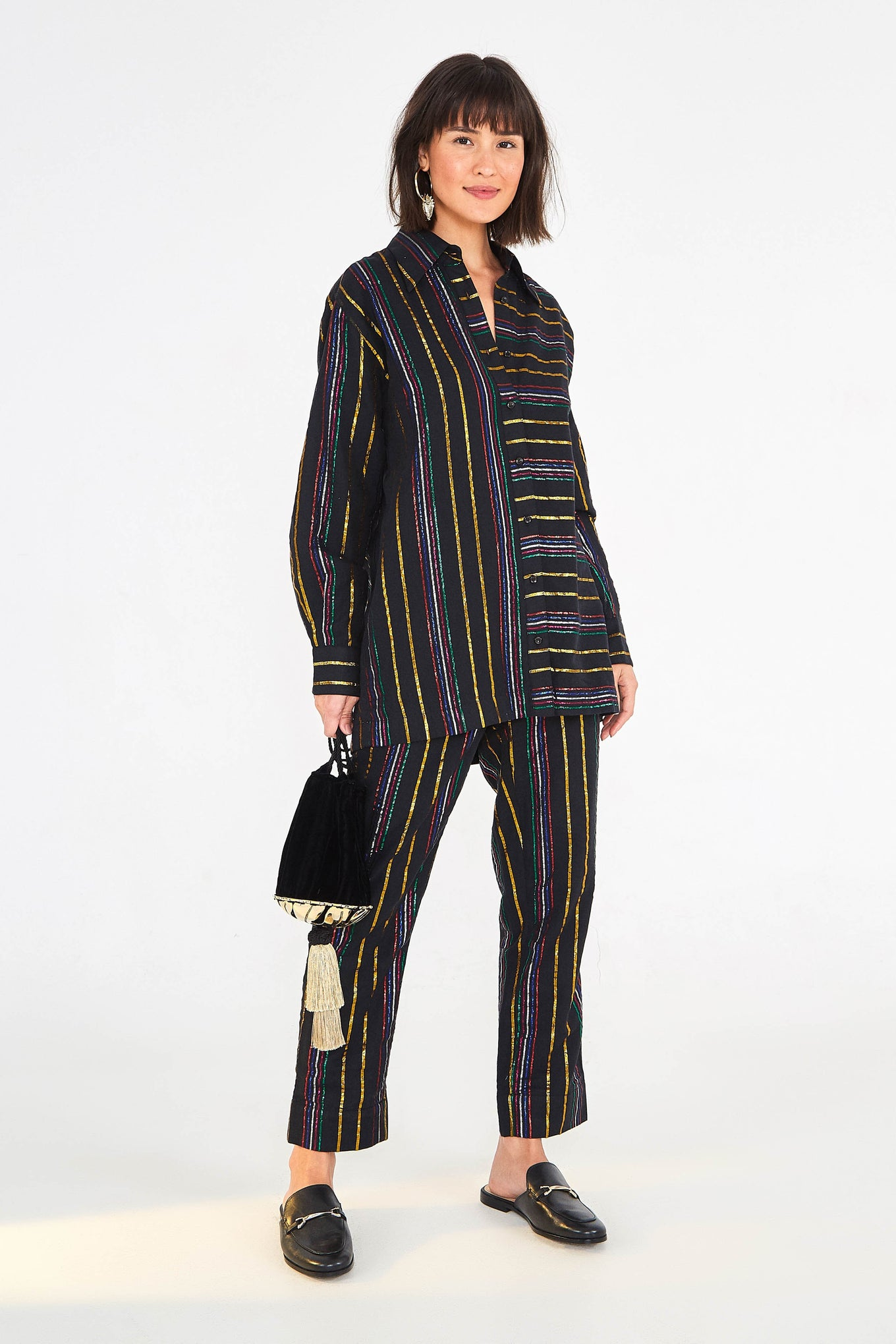 LUREX STRIPE PANTS