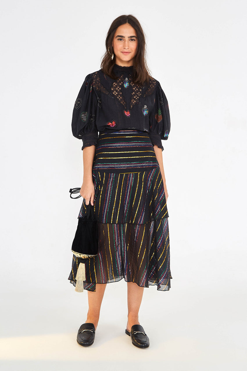 LUREX STRIPE SKIRT
