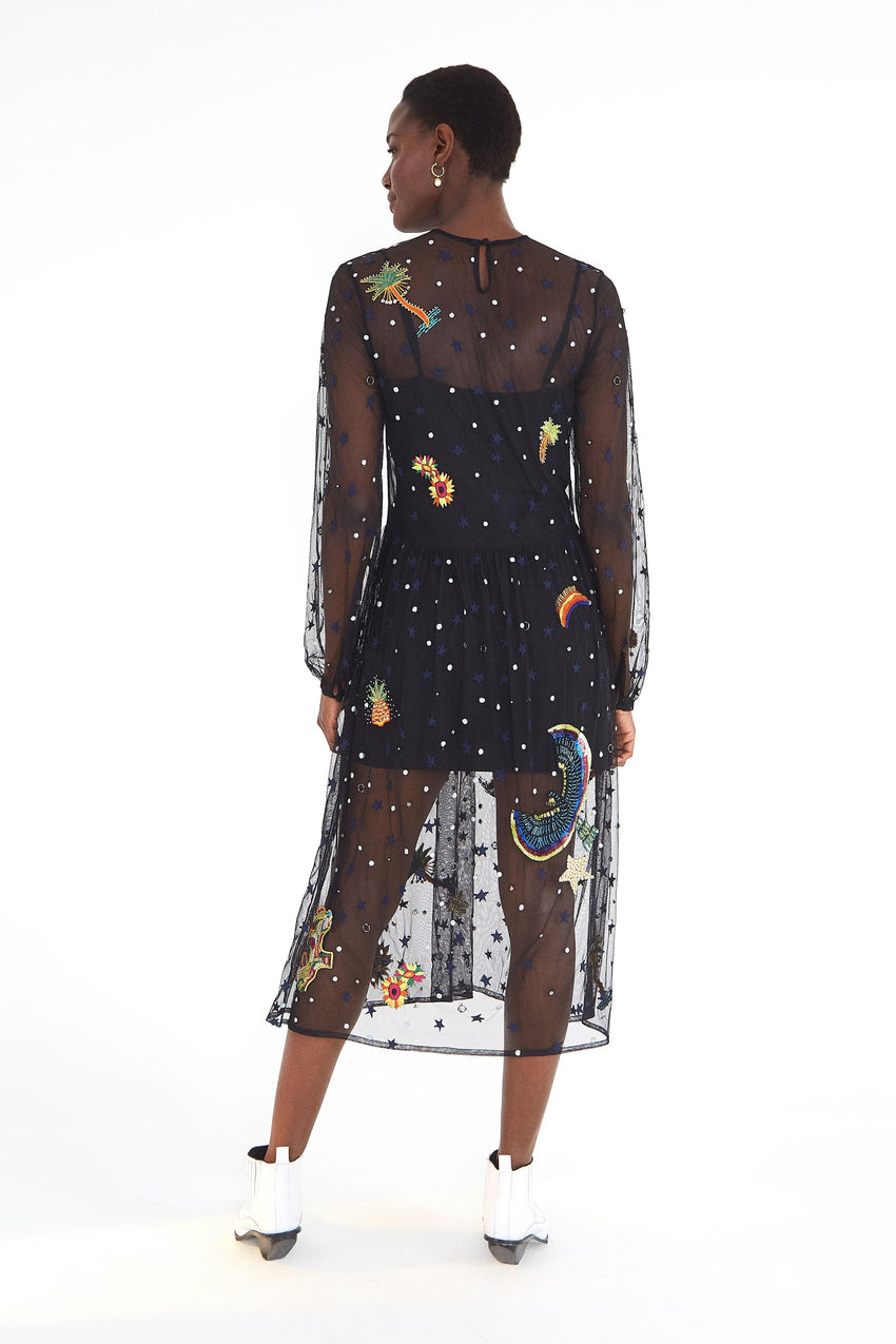 EMBROIDERED BOROGODO DRESS