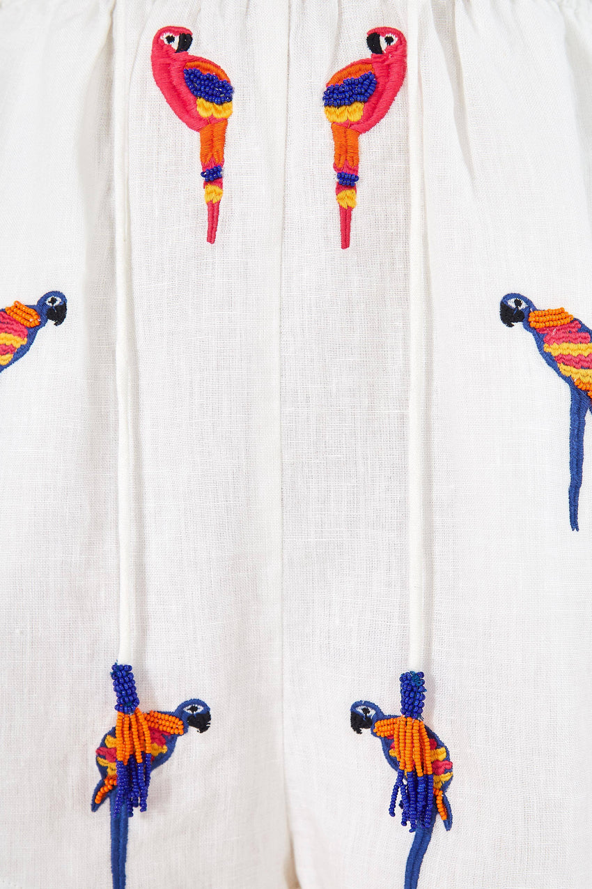 MINI MACAW MIXED PRINT JUMPSUIT
