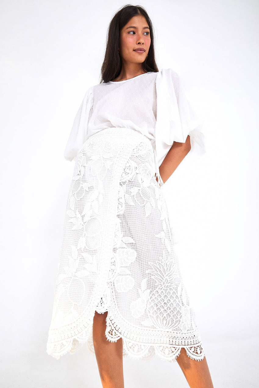 LACE WRAP SKIRT