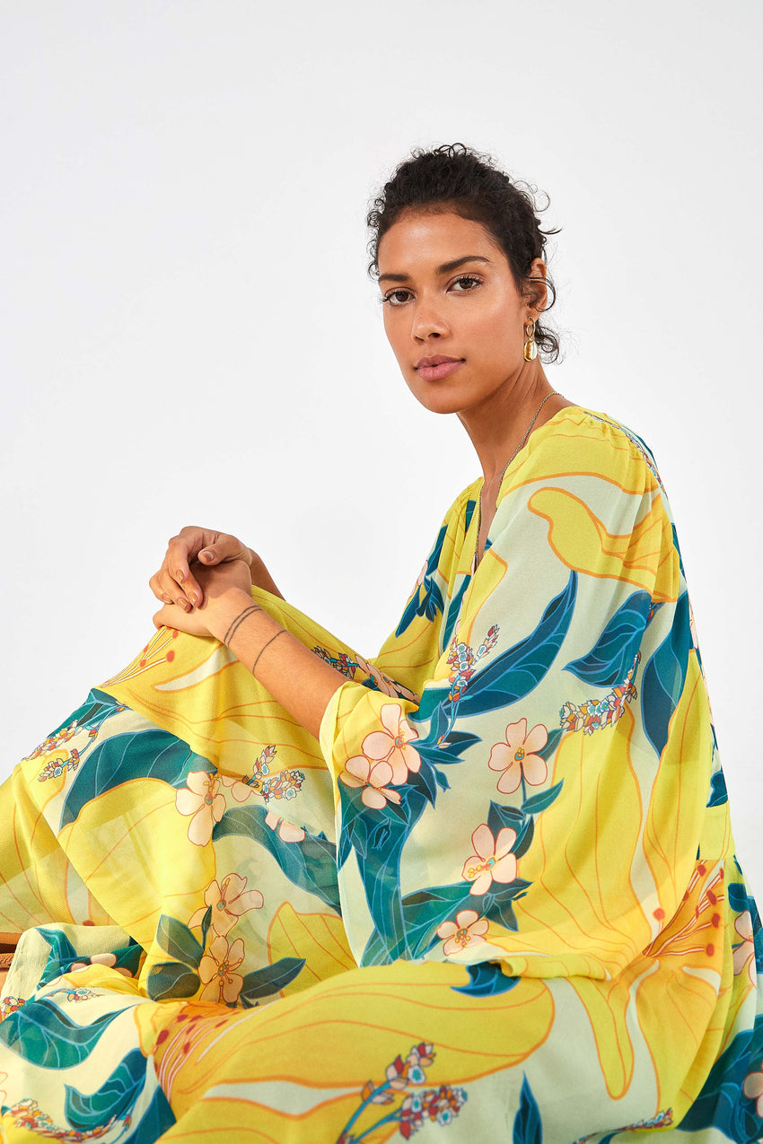 FARM RIO FLORAL PIETRA MAXI DRESS