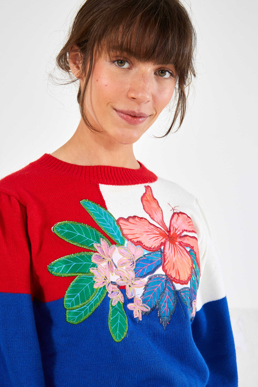 FARM FLORAL SWEATER