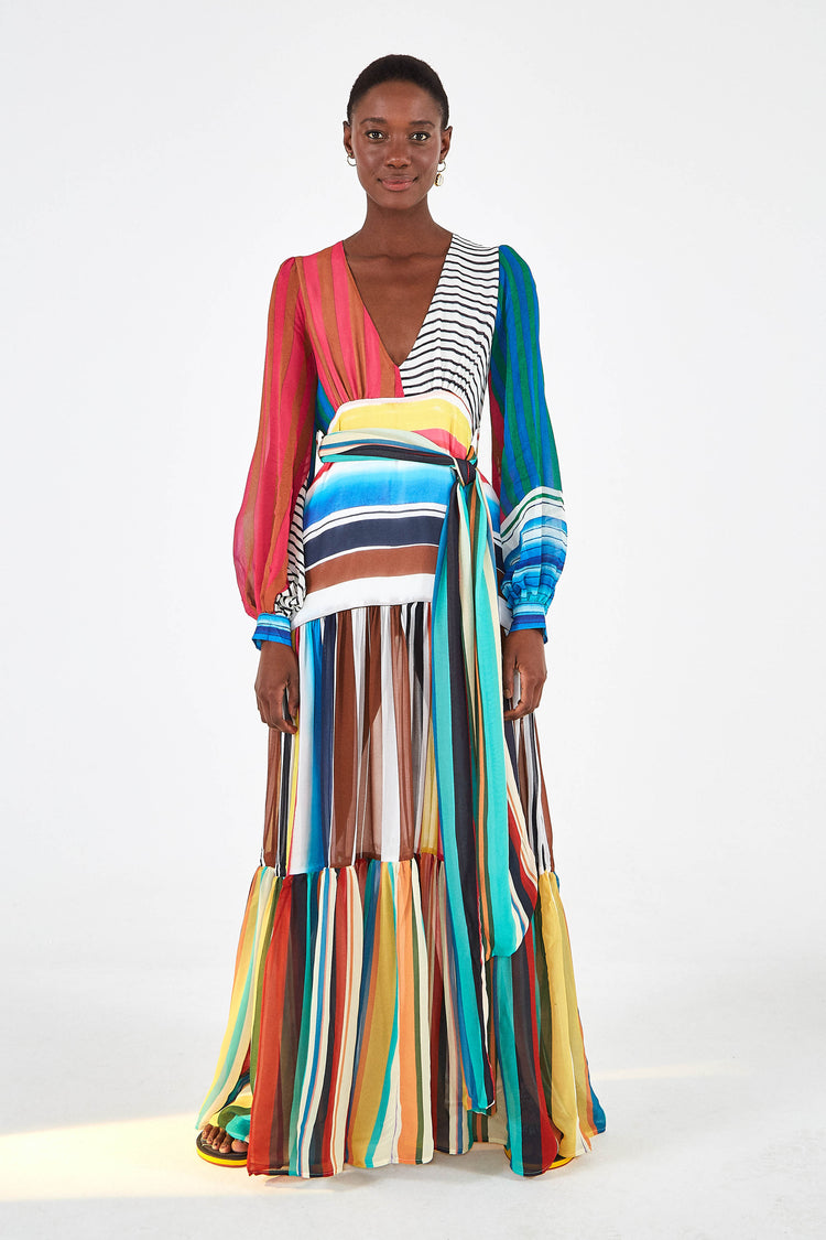 THALITA STRIPE MAXI DRESS