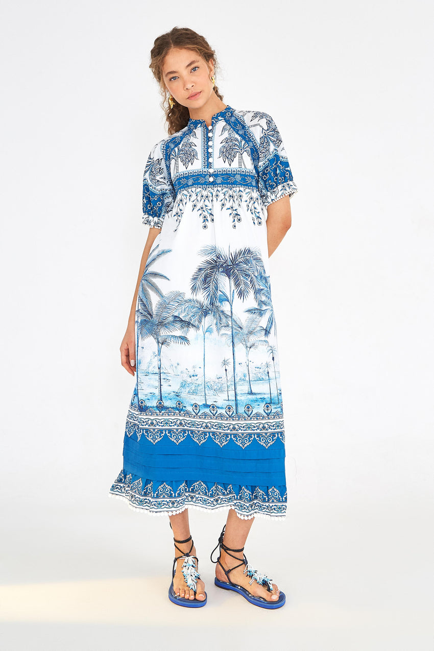 BEACH PALM MAXI DRESS