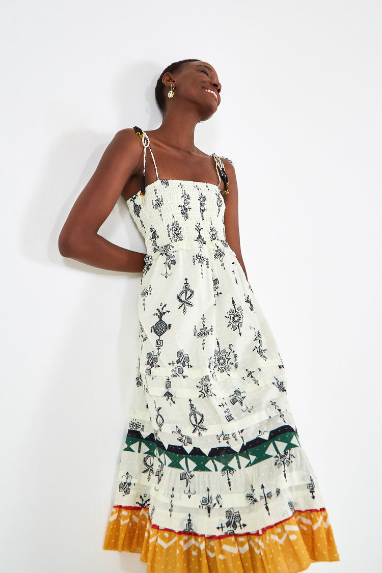PITTA STAMP DRESS