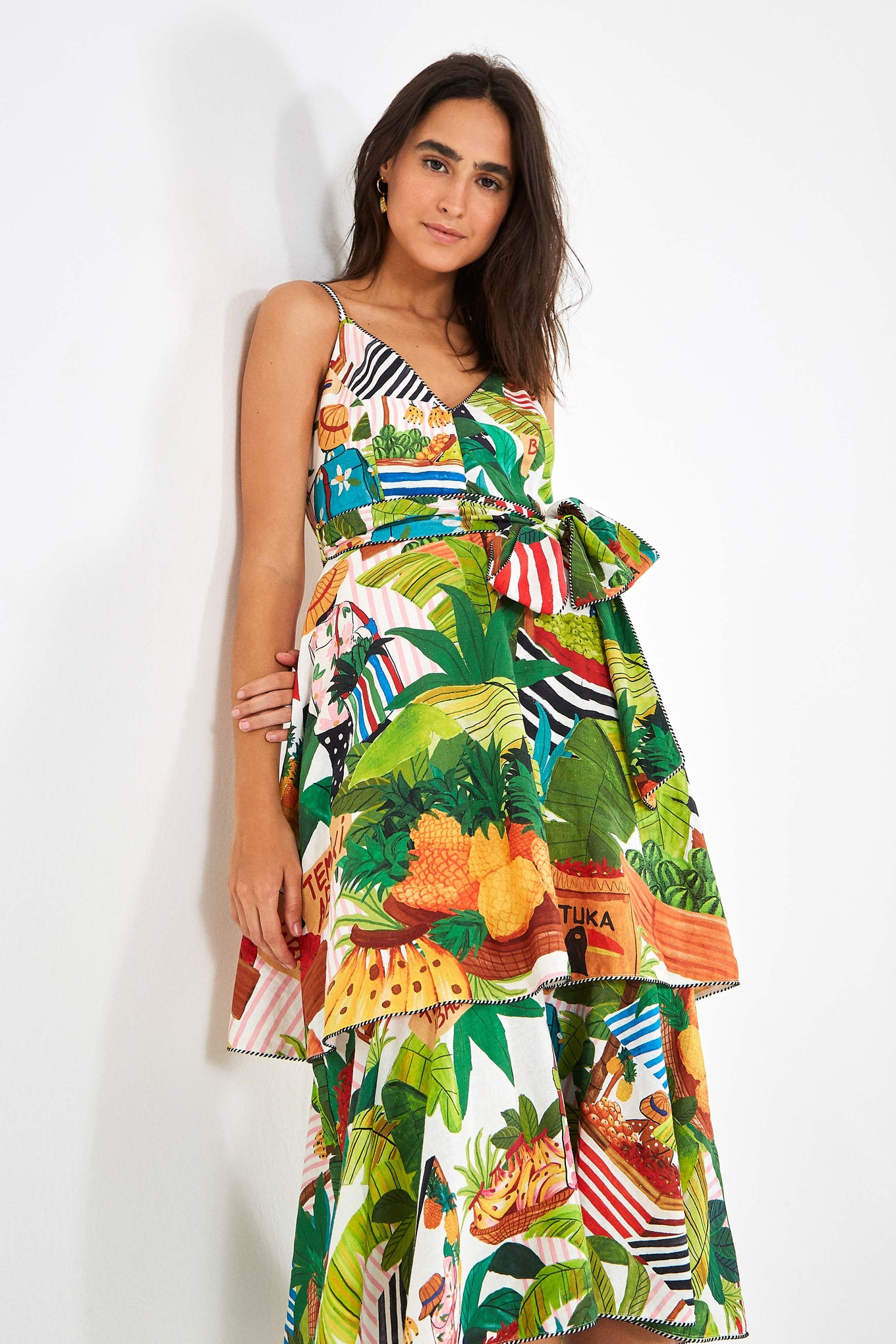 TROPICAL FAIR MIDI DRESS