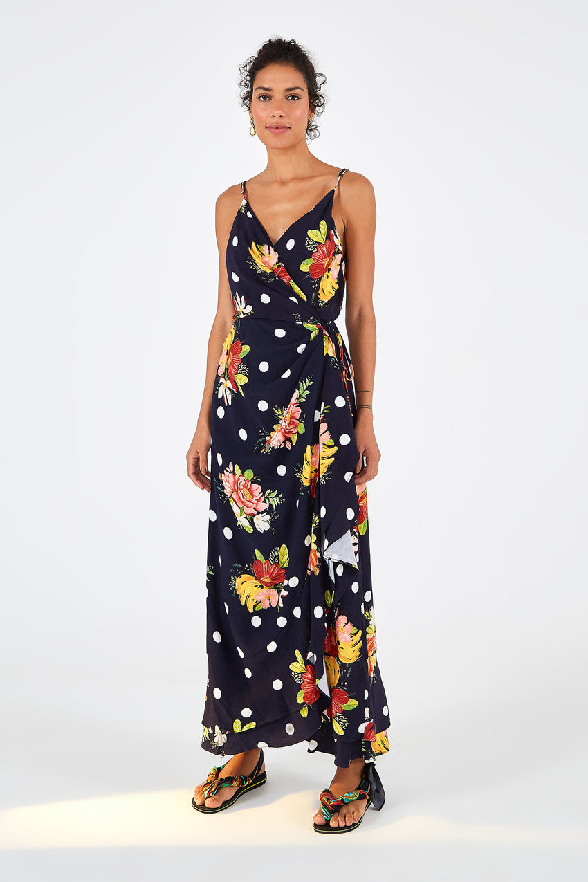 NANAJU FLORAL WRAP DRESS