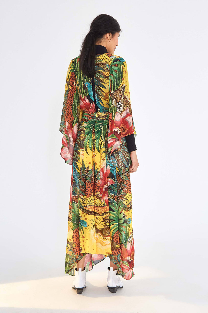 TROPICAL DREAMS CAFTAN DRESS