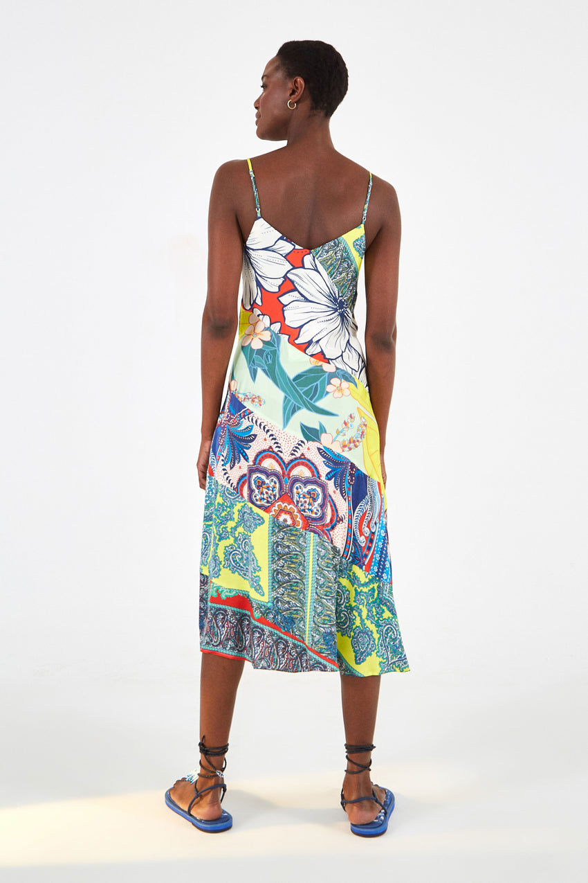 ISLAND SCARF SLIP DRESS