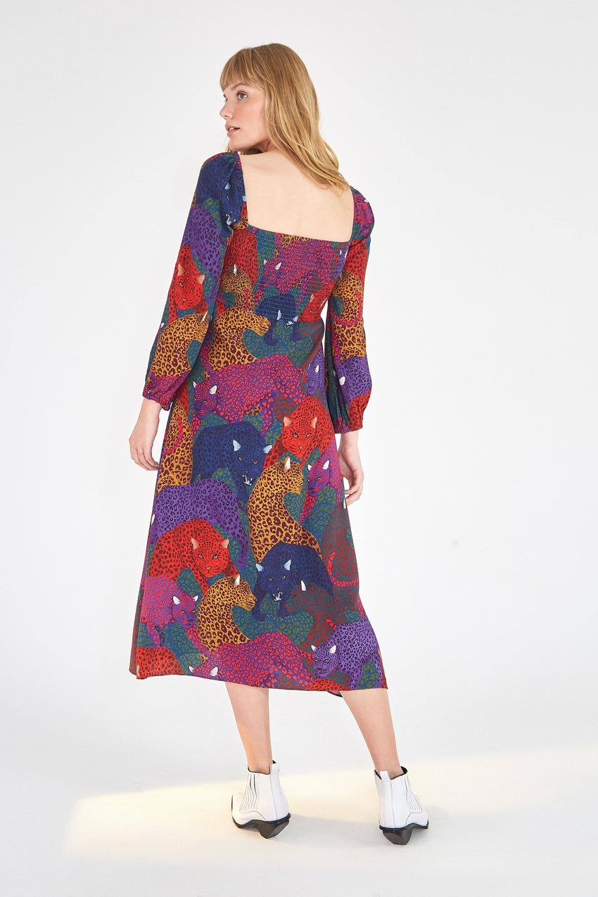RAINBOW JAGUAR MAXI DRESS