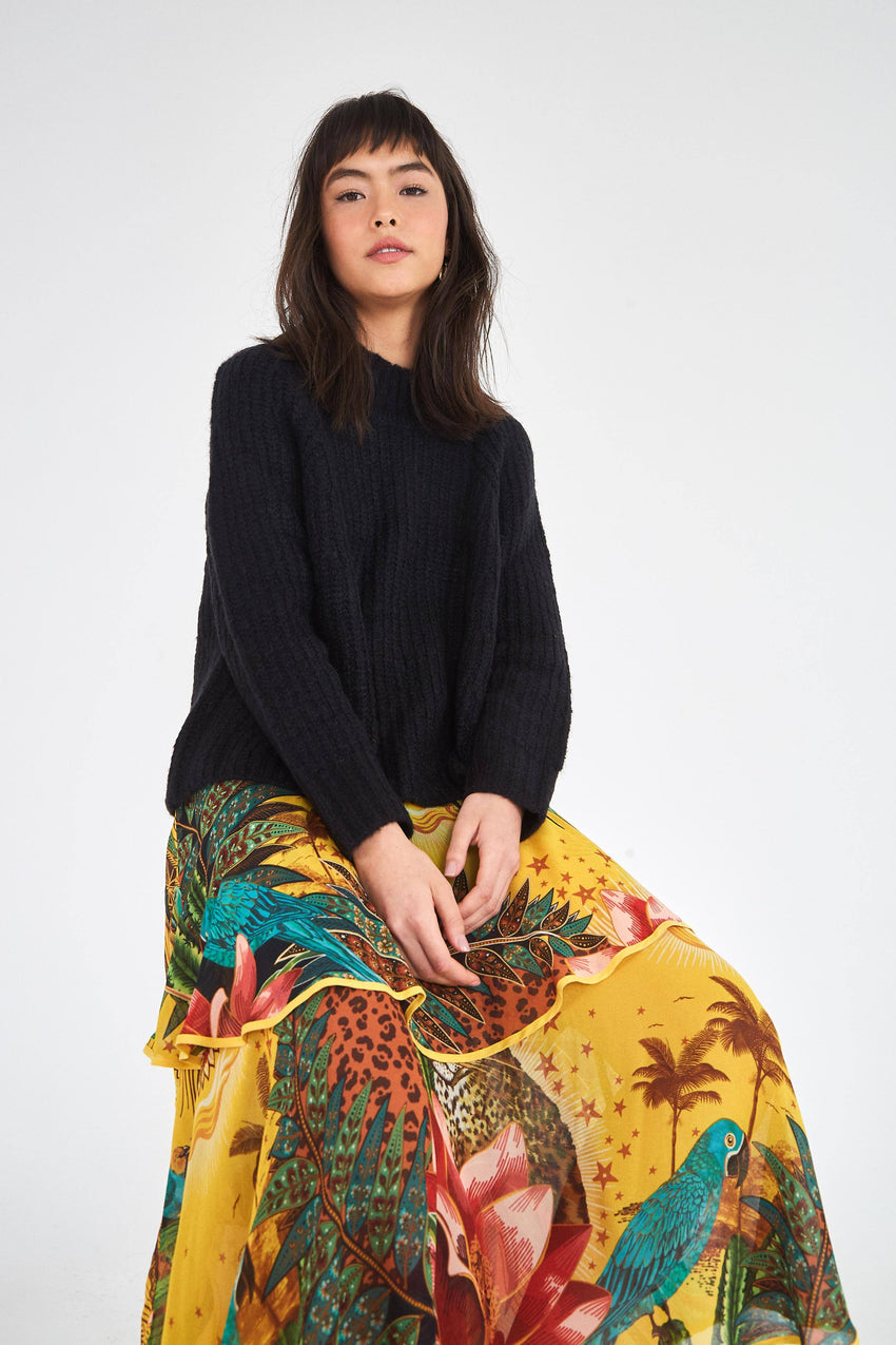 TROPICAL DREAMS TIERED SKIRT