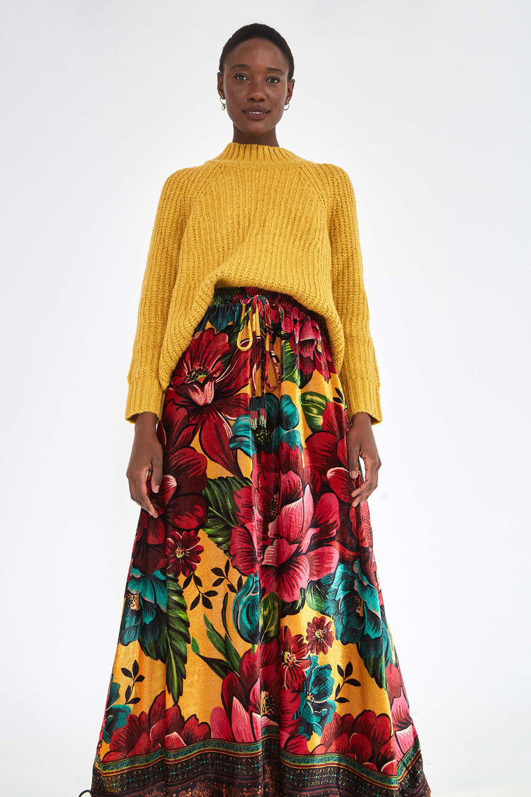 WINTER GARDEN VELVET SKIRT