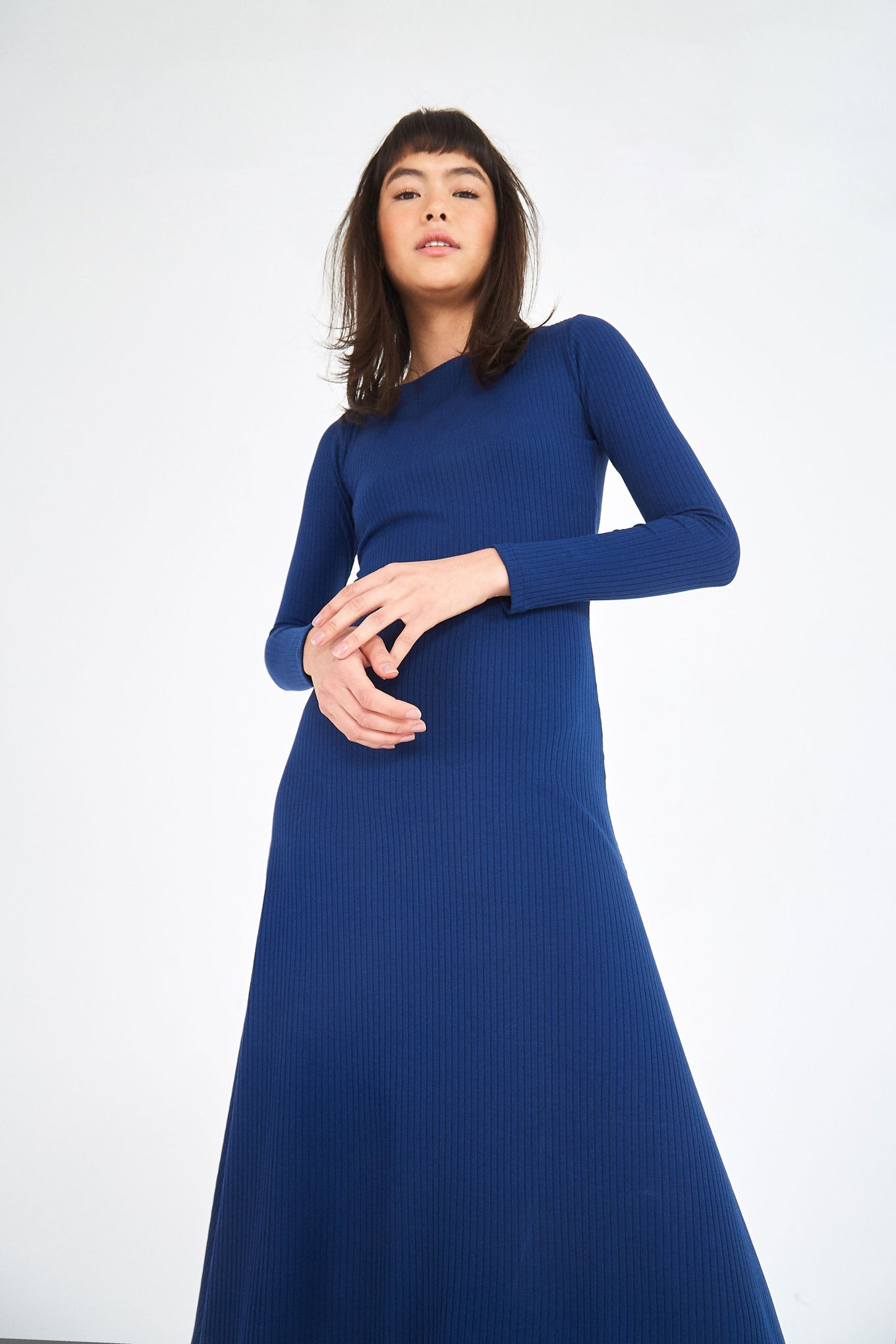 BOAT NECK MIDI DRESS
