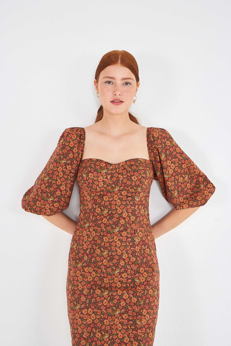 LEOPARD GARDEN MINI DRESS