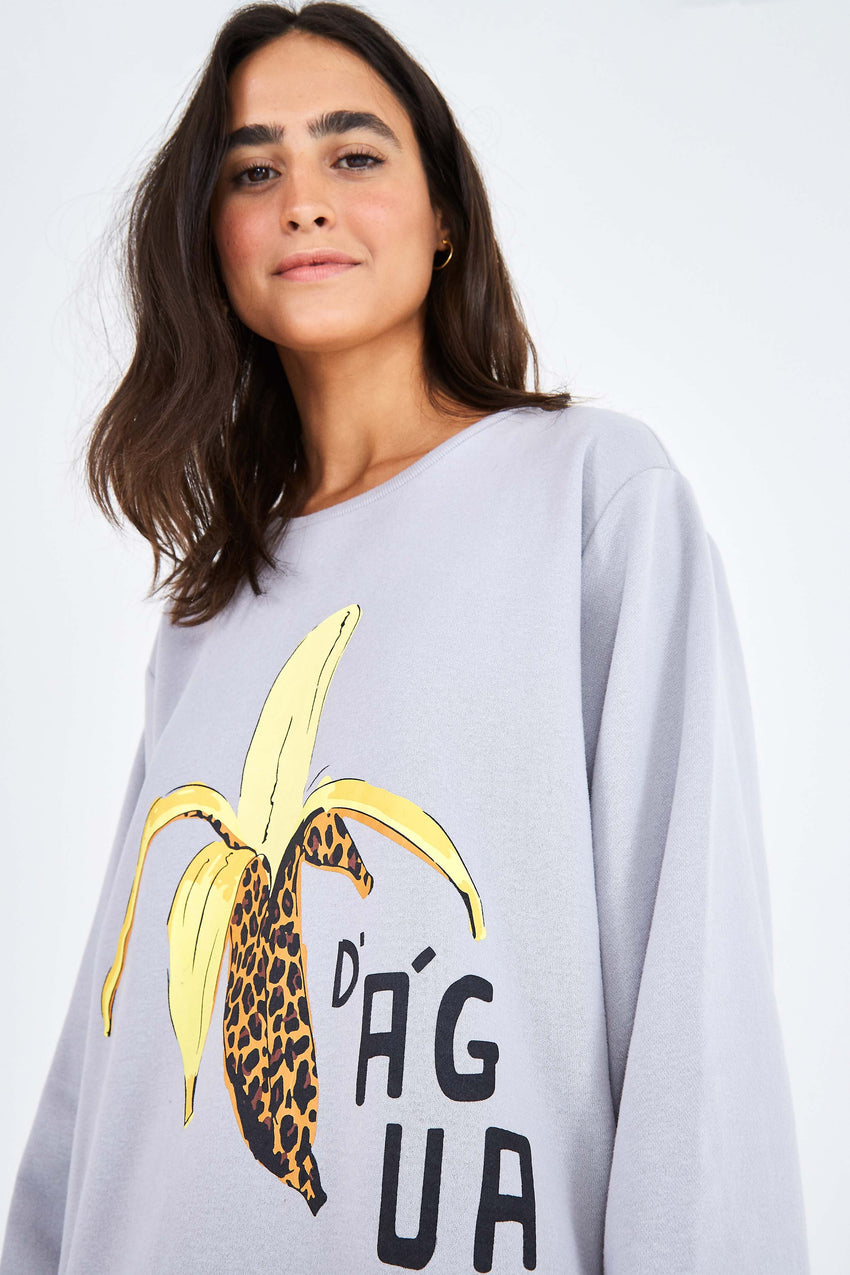 GREY BANANA SWEATSHIRT